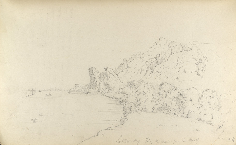 f.28'   Lukkee Pass.  Feby 15th, 1840 from the North' (Sind).  Description on f.27v.